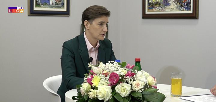 Gost InfoLIGE premijerka Ana Brnabić – Otvoreno o Goliji, malinama, Nušićijadi… (VIDEO)