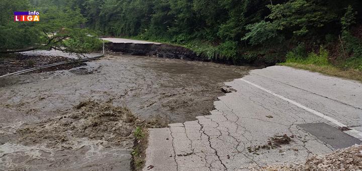 IL-Put-za-kumanicu- Ivanjica - Bujica odnela puteve, sela odsečena, nema vode, prekidi u snabdevanju strujom (VIDEO)