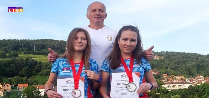 Dve medalje za ivanjičke atletičarke na prvenstvu Srbije
