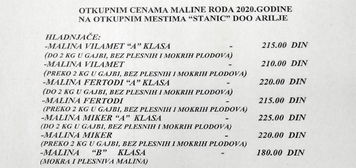 IL-Otkupna-cena-malina-Stanic-1 Akontna cena malina 1,83 evra
