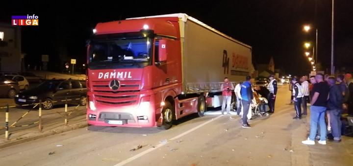 IL-Saobracajna-nezgoda-Prilika- Saobraćajna nezgoda u Prilikama: Motociklista udario u kamion