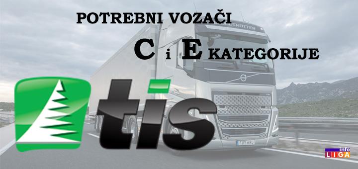 IL-TIS Preduzeću TIS potrebni vozači