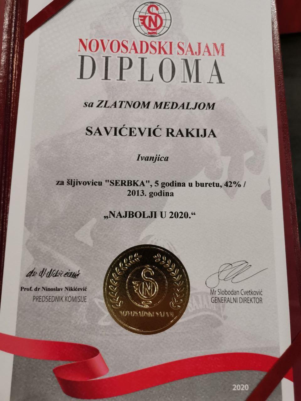 rakija-savicevic Diplomatska rakija ''Savićević'' ponovo zlatna