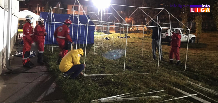 IL-Crveni-krst-satori-tri Postavljeni šatori ispred COVID ambulante u Ivanjici