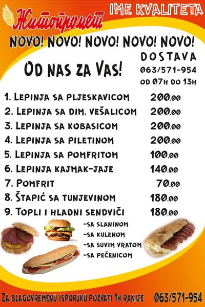 IL-zitko-1 NOVO!!! Žitopromet Ivanjica dostavlja pice, lepinje i sendviče na kućnu adresu!