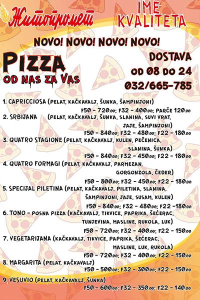 IL-zitko-pizza- NOVO!!! Žitopromet Ivanjica dostavlja pice, lepinje i sendviče na kućnu adresu!