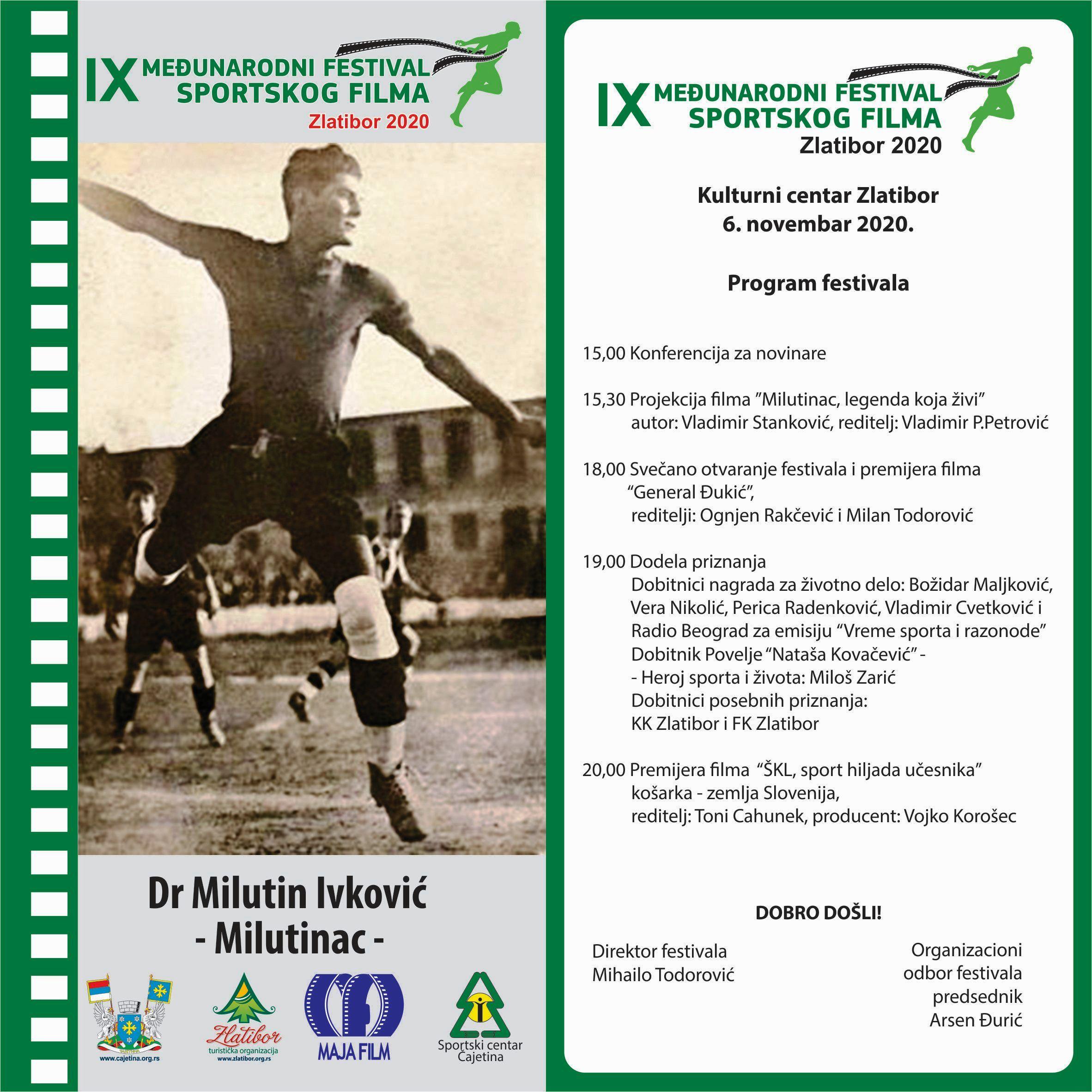 Program-festivala-2020 IX Međunarodni festival sportskog filma Zlatibor