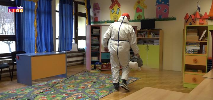 dezinfekcija- Dezinfekcija ivanjičkih škola, vrtića i Doma zdravlja (VIDEO)