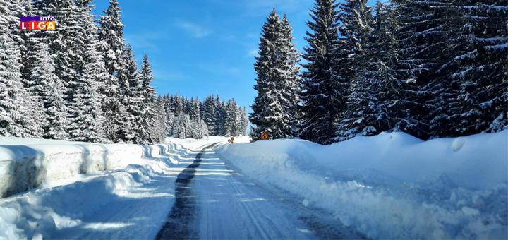 IL-Put-Odvracenica-Preko-brdo-Golijska-reka- Snega na Goliji u izobilju - putevi prohodni (VIDEO)