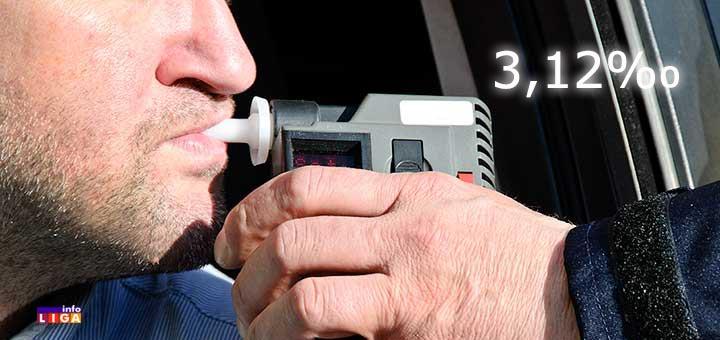 IL-alko-test Ivanjičanin za volanom naduvao 3,12 promila alkohola