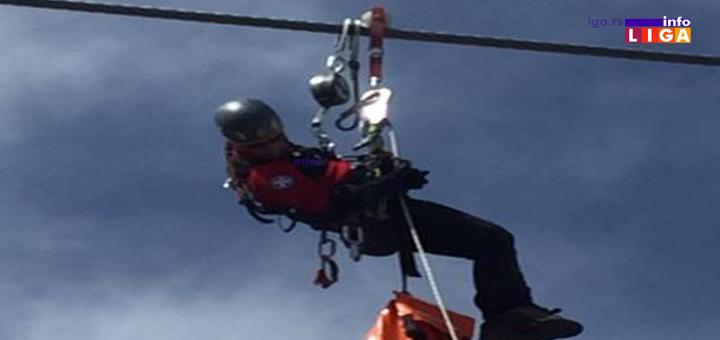 IL-Gondola-spasavanje Zlatibor: Uspešno izvedena vežba evakuacije putnika iz gondole (VIDEO)