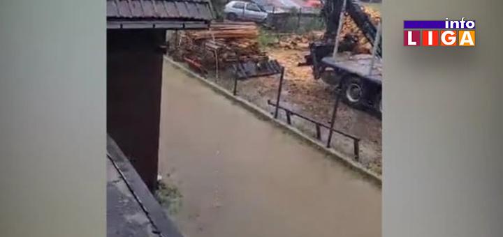 IL-druga-proleterska- Ivanjica : Poplavljena ulica Druge proleterske (VIDEO)